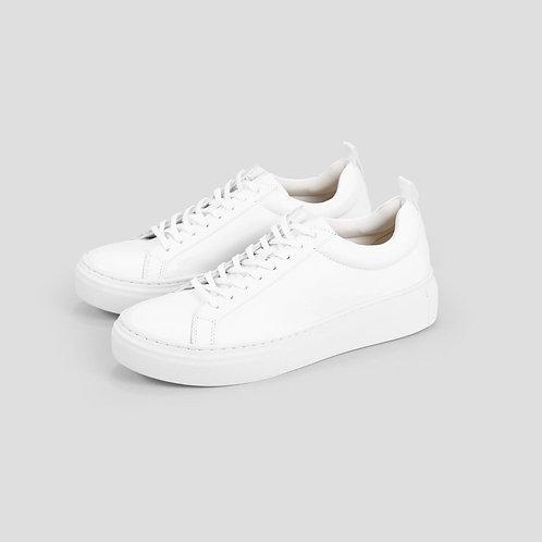 ZOE PLATFORM White Leather Shoes