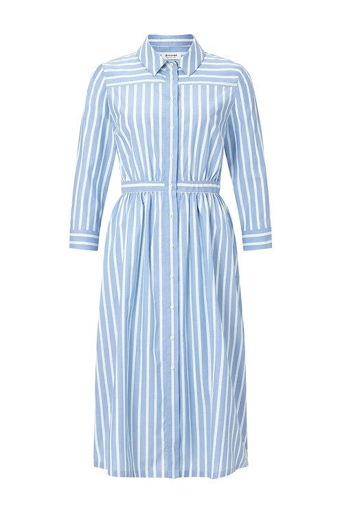 Blauweißes Stripe Spring Kleid