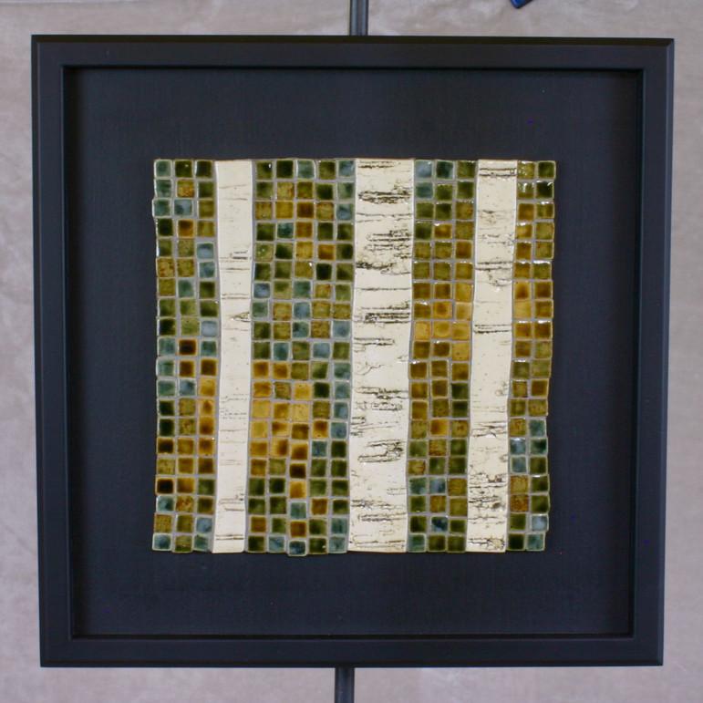 White birch mosaic