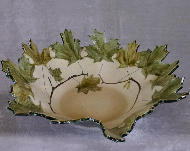 Large maple leaf bowl