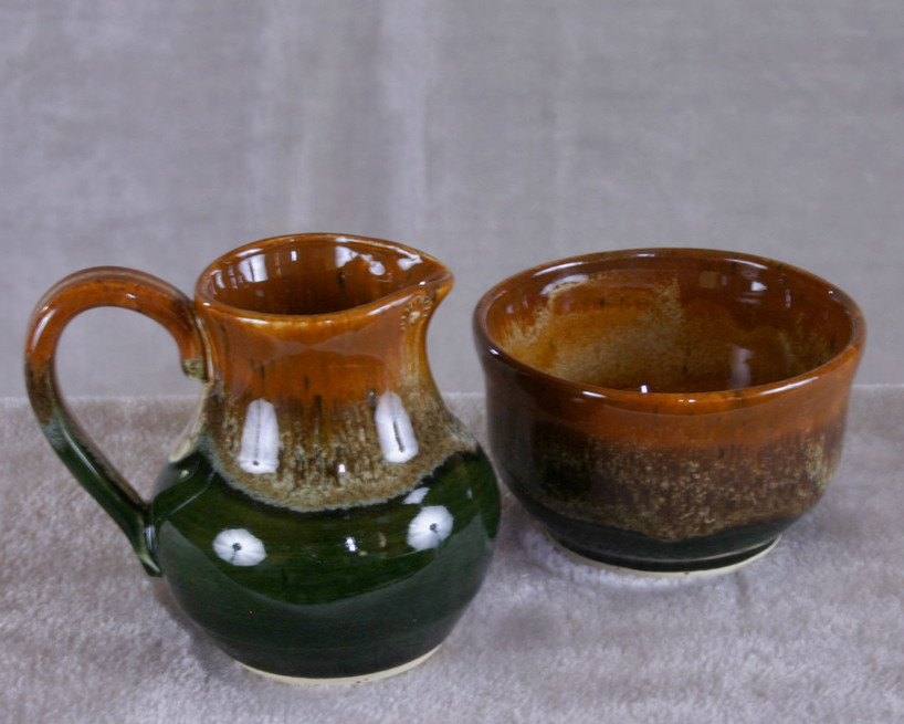 Cream and sugar serving set