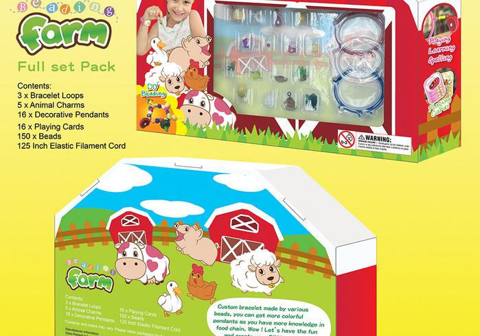 農場玩具手飾玩具 包裝及咭牌插畫