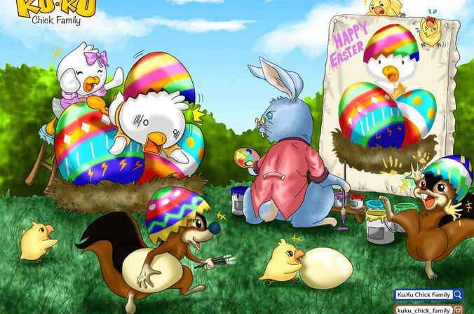 主題彩畫 - 復活節