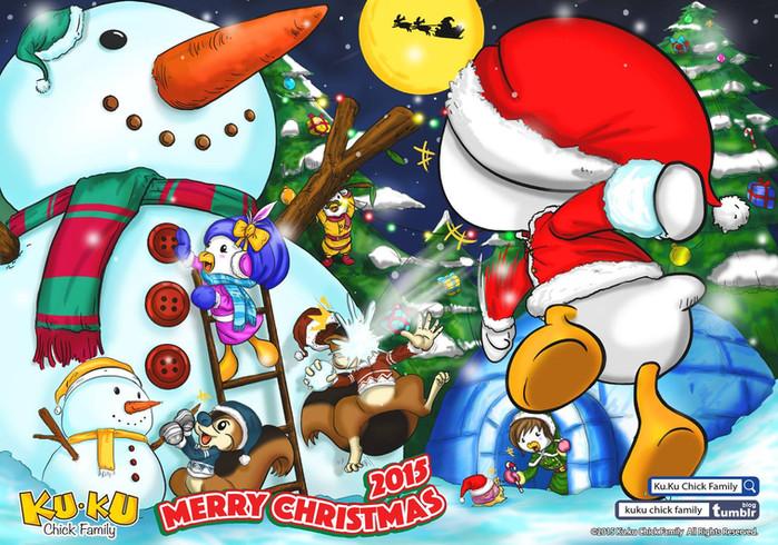 Kuchick 主題插畫- 白色聖誕