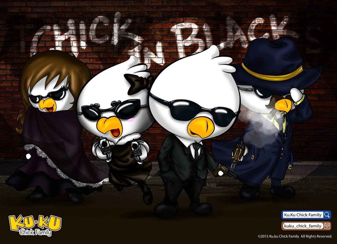 主題彩畫 - Chick in Black