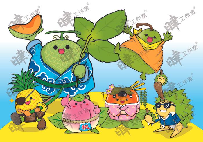 水果主題插畫