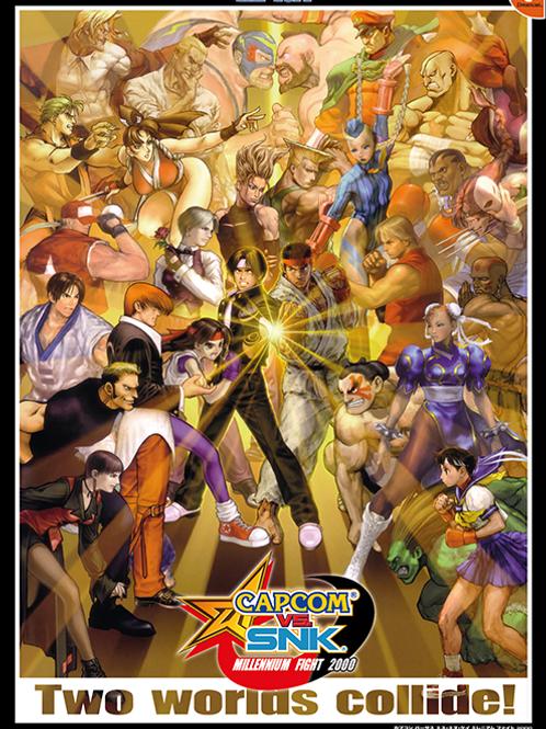 Capcom Vs. SNK Dreamcast Poster B2 Size