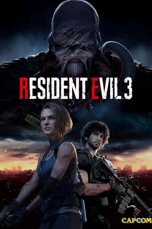 Resident Evil 3 Remake Poster B2 Size