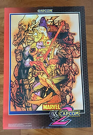 Marvel Vs. Capcom 2 JAPAN Poster B1 Size