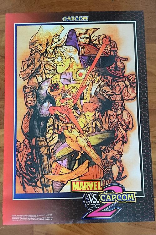 Marvel Vs. Capcom 2 JAPAN Poster B1 Size