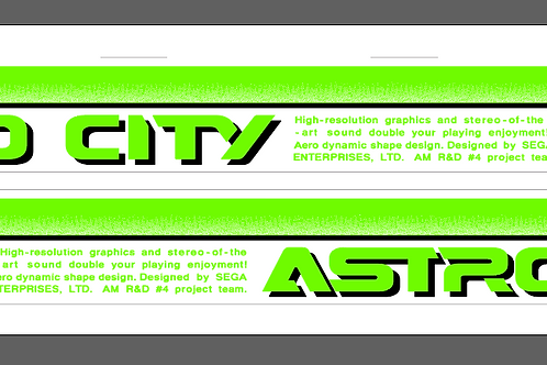 Astro City Side Arts Re-Production Neon Green Pre-Order