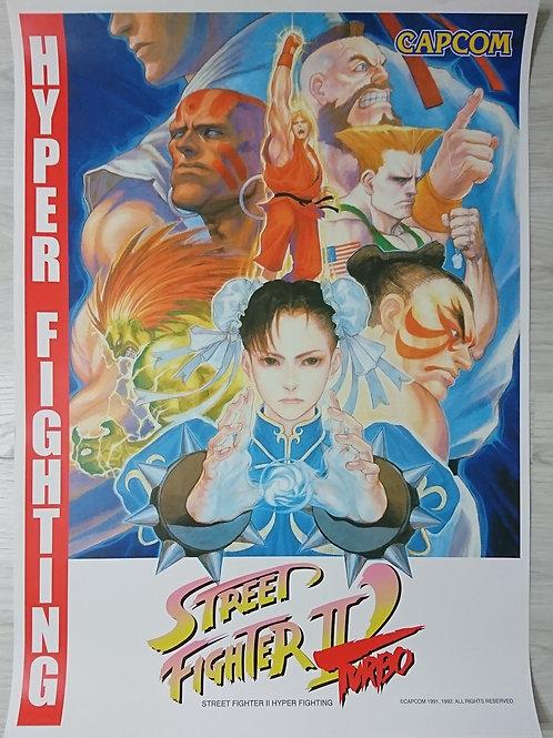 Street Fighter II Turbo Hyper Fighting Poster B2 Size