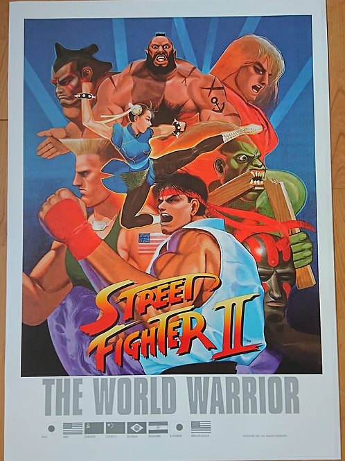 Street Fighter II: The World Warrior Poster B2 Size