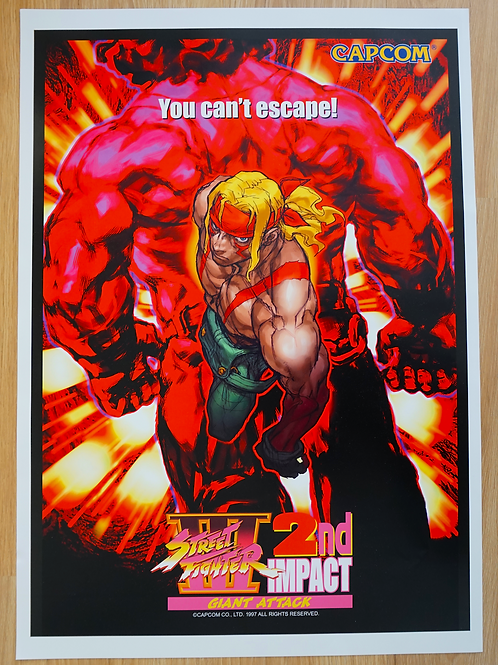 Street Fighter III 2ND Impact Poster B2 Size