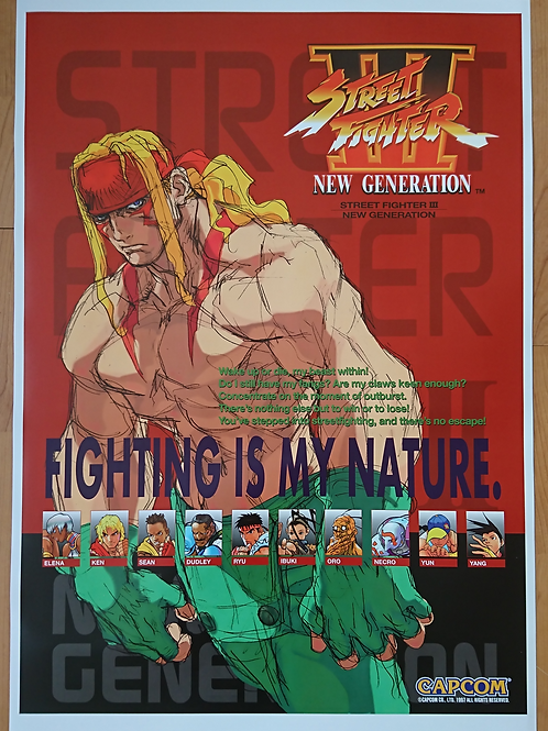 Street Fighter III: New Generation Poster B2 Size