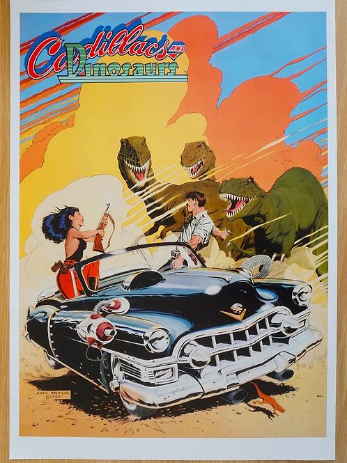 Cadillacs And Dinosaurs Poster B2 Size