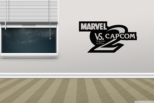 Marvel Vs. Capcom 2 Arcade Game Logo Metal Wall Decor