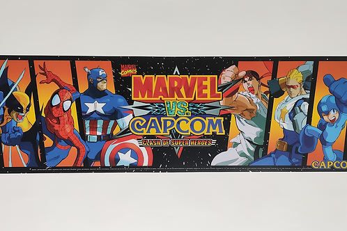 "Marvel Vs. Capcom Arcade Marquee 26 x 8"""