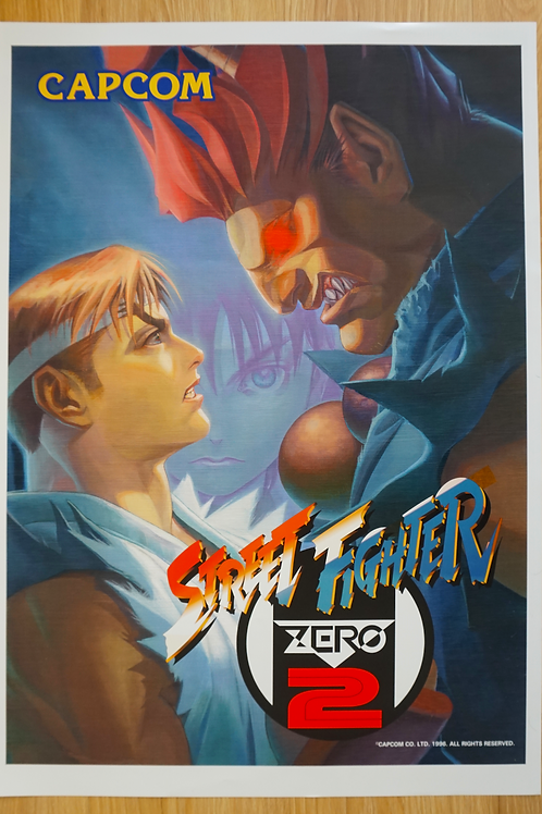 Street Fighter Zero 2 Poster B2 Size
