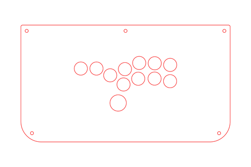 TMX - Extra Layout. Hitbox Style Stainless Steel