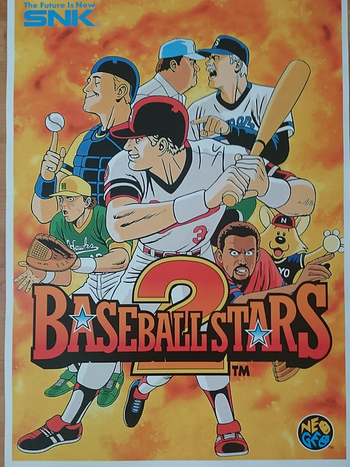 Baseball Stars 2 Arcade Poster B2 Size