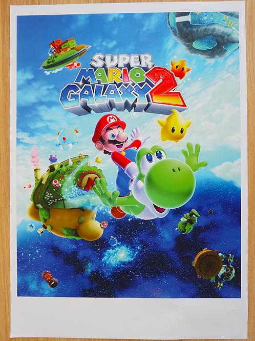 Super Mario Galaxy 2 Poster B2 Size
