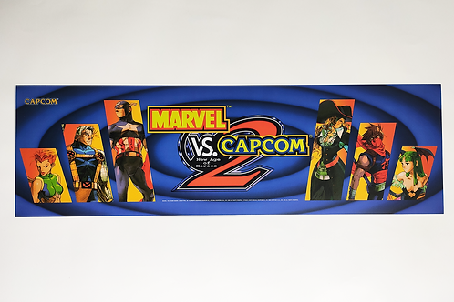 "Marvel Vs. Capcom 2 Arcade Marquee 26 x 8"""