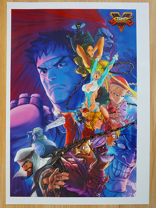 Street Fighter V Poster B2 Size