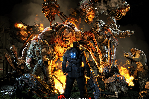 Gears Of War 3 Comic Con Poster B2 Size