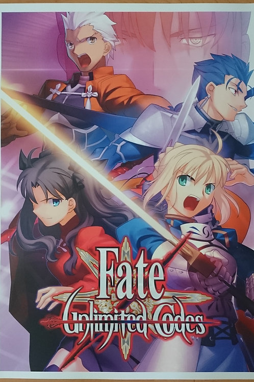 Fate Unlimited Codes Arcade Poster B2 Size