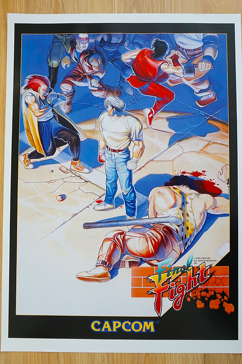 Final Fight Arcade Poster B2 Size