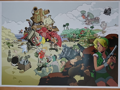 Metal Slug Artwork Poster B2 Size