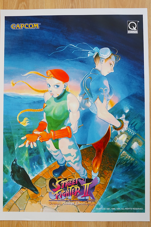 Super Street Fighter II X Grand Master Poster B2 Size