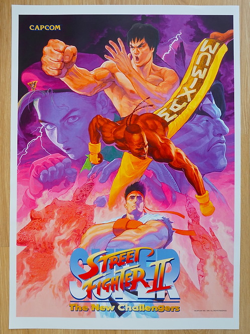 Super Street Fighter II The New Challenger Poster B2 Size