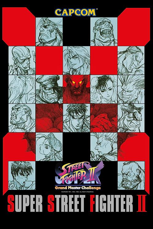 Super Street Fighter IIX G.Master Challenge Poster B2 Size