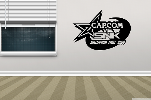 Capcom Vs. SNK Arcade Game Logo Metal Wall Decor