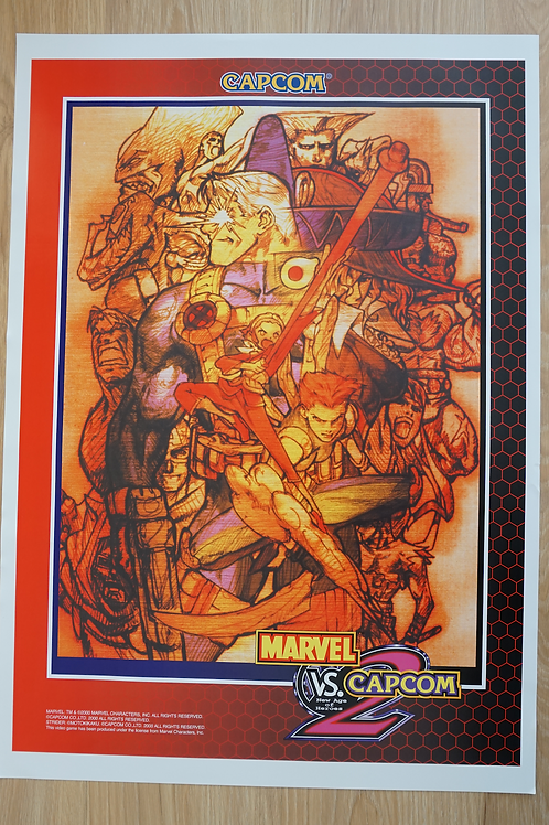 Marvel Vs. Capcom 2 JAPAN Poster B2 Size