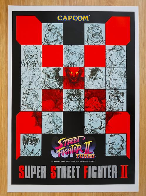 Super Street Fighter II Turbo Poster B2 Size
