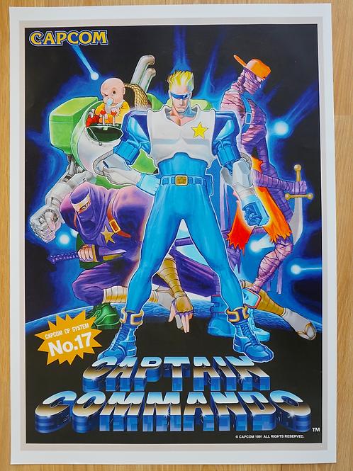 Captain Commando Poster B2 Size