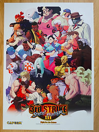 Street Fighter III 3RD Strike Poster B2 Size