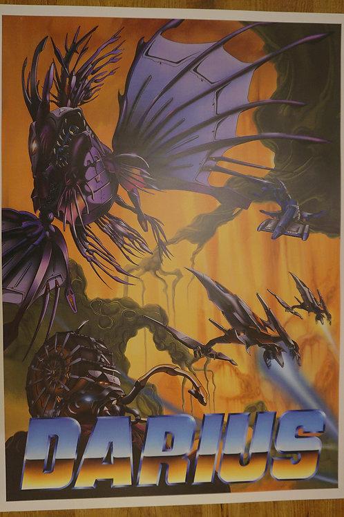 Darius V2 Arcade Poster B2 Size