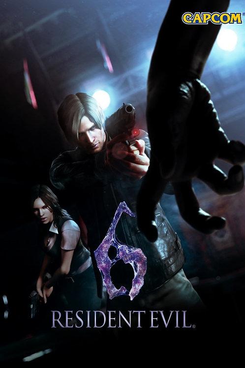 Resident Evil 6 Japan Poster B2 Size