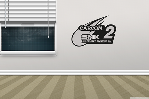 Capcom Vs. SNK 2 Arcade Game Logo Metal Wall Decor