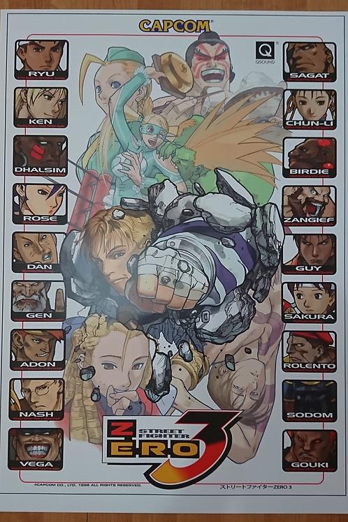 Street Fighter Zero 3 Poster B2 Size