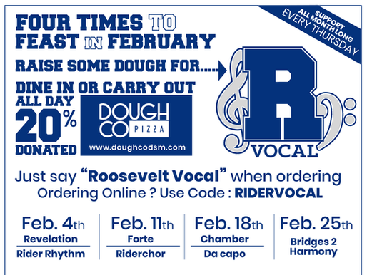 Support Roosevelt Vocal Music with Dough Co!