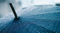 A-Heavy-Rain-Falling-Umbrella-is-Full-of-Rainbows-They-Are-Clear-and-Crystal-Lik