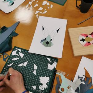 Atelier Tableau en cuir