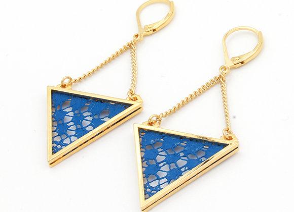 Bleu/ Doré