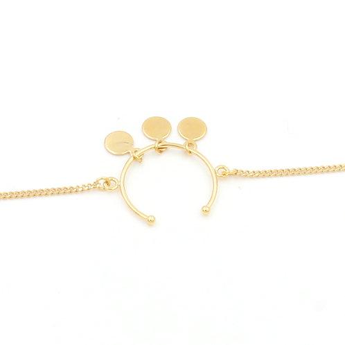 Bracelets à pampilles dorés à l'or fin, made in France, bijoux de créateur
