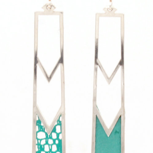 Turquoise / Argent